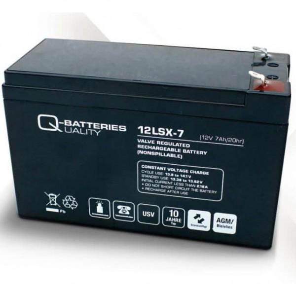 Batería Qbatteries Agm Long Life 12LSX-7. Tecnología AGM. 12V - 7Ah (151x65x94mm)