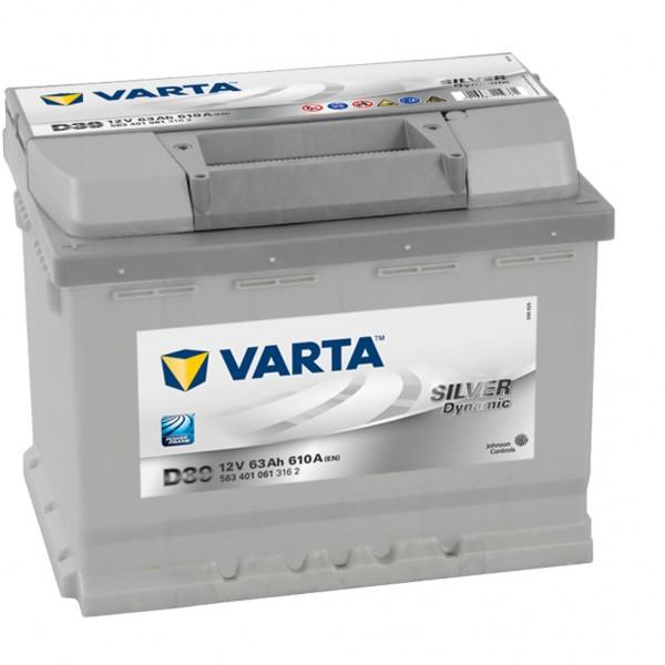 Batería Varta Silver Dynamic D39. 12V - 63Ah/610A (EN) Caja L2 (242x175x190mm)