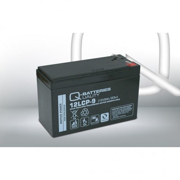 Batería Qbatteries Agm Deep Cycle Battery 12LCP-9. Tecnología AGM. 12V - 9Ah (151x65x94mm)