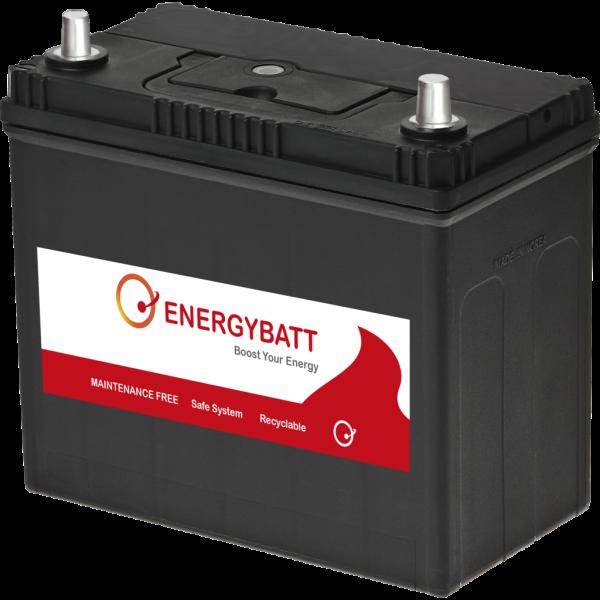 Batería Energybatt Caja Japonesa / Asiática EBJP45390D. 12V - 45Ah/390A (EN) Caja B24 (234x127x200mm