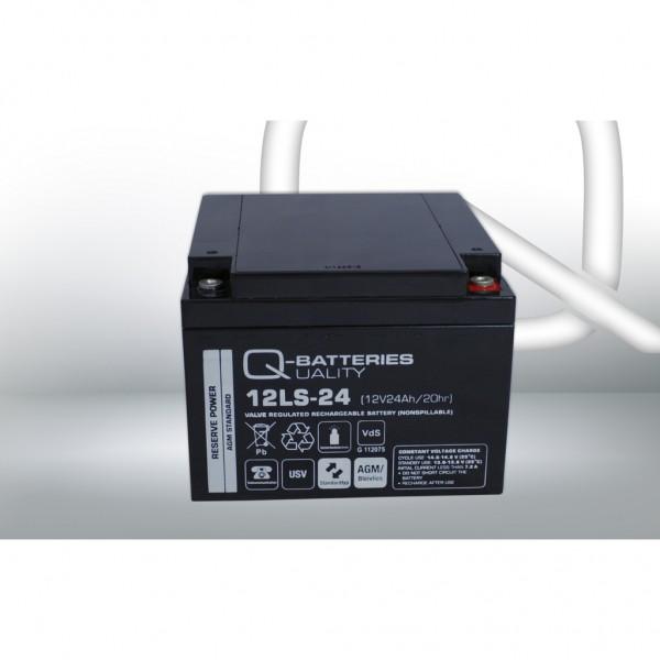 Batería Qbatteries Agm Standard 12LS-24. Tecnología AGM. 12V - 24Ah (165x176x125mm)