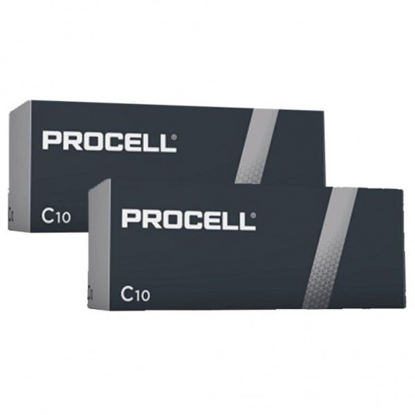 Pila Duracell Procell C - 20 Ud 1,5V