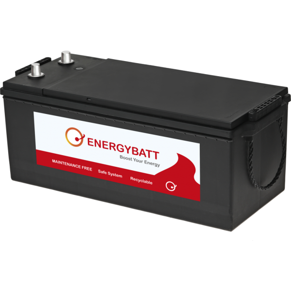 Batería Energybatt Caja Industrial EBB1801000D. 12V - 180Ah/1000A (EN) (513x223x215mm)