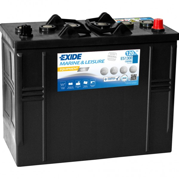 Batería Exide Marina Gel ES1300. 12V - 120Ah/750A (EN) Caja WOR (349x175x290mm)
