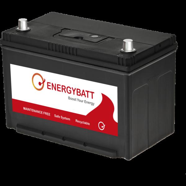 Batería Energybatt Caja Japonesa / Asiática EBJP100760D. 12V - 100Ah/760A (EN) Caja M27 (302x172x200