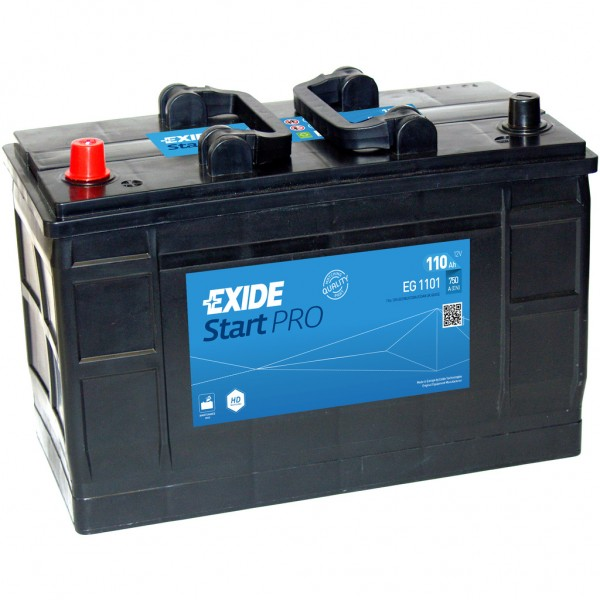 Batería Exide Start Pro EG1101. 12V - 110Ah/750A (EN) Caja LOT7 (349x175x235mm)