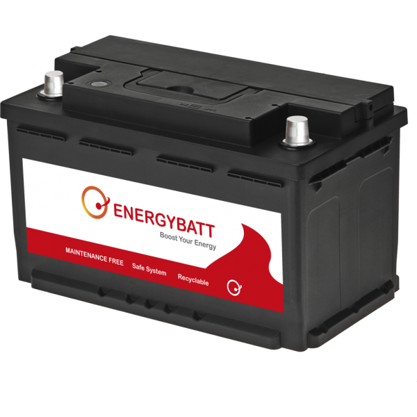 Batería Energybatt EBL480720I. 12V - 80Ah/720A (EN) Caja L4 (315x175x190mm)