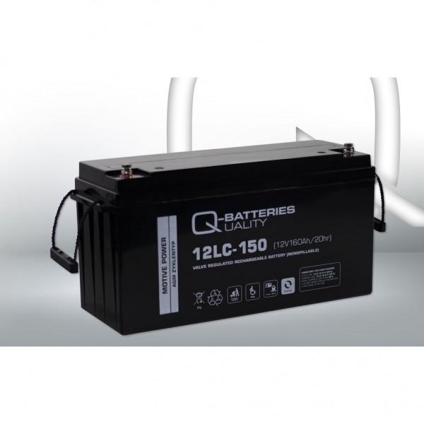 Batería Qbatteries Agm Deep Cycle Battery 12LC-150. Tecnología AGM. 12V - 160Ah (483x170x240mm)