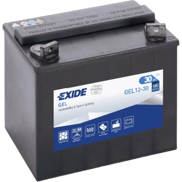 Batería Exide Moto 12V Agm Ready GEL12-30. 12V - 12Ah/180A (EN) (197x132x186mm)