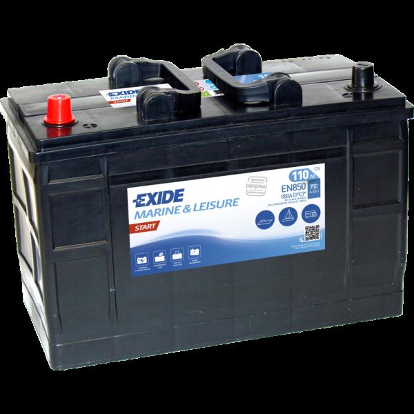Batería Exide Marina Start EN850. 12V - 110Ah/750A (EN) Caja LOT7 (349x175x235mm)