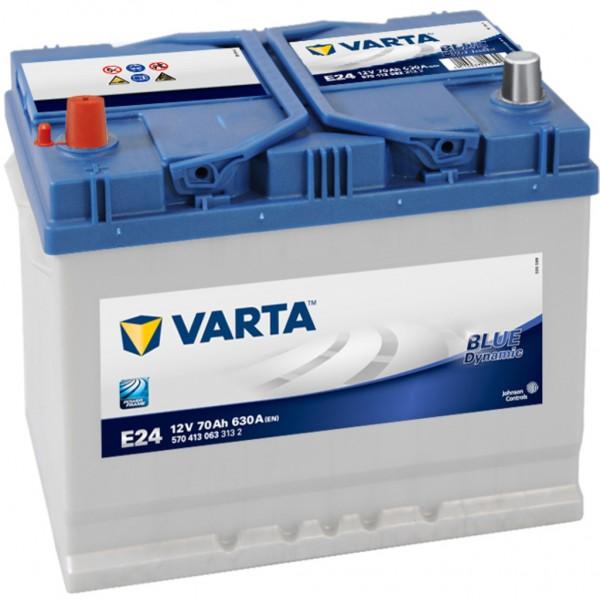 Batería Varta Blue Dynamic E24. 12V - 70Ah/630A (EN) Caja D26 (261x175x220mm)