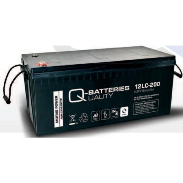 Batería Qbatteries Agm Deep Cycle Battery 12LC-200. Tecnología AGM. 12V - 214Ah (522x240x219mm)