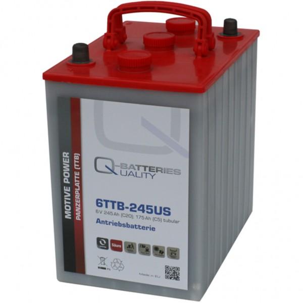 Batería Qbatteries Tubular Plate Battery 6TTB-245US. 6V - 245Ah (260x180x275mm)