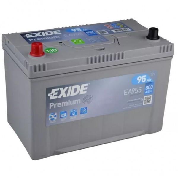 Batería Exide Premium EA955. 12V - 95Ah/800A (EN) Caja M27 (306x173x222mm)