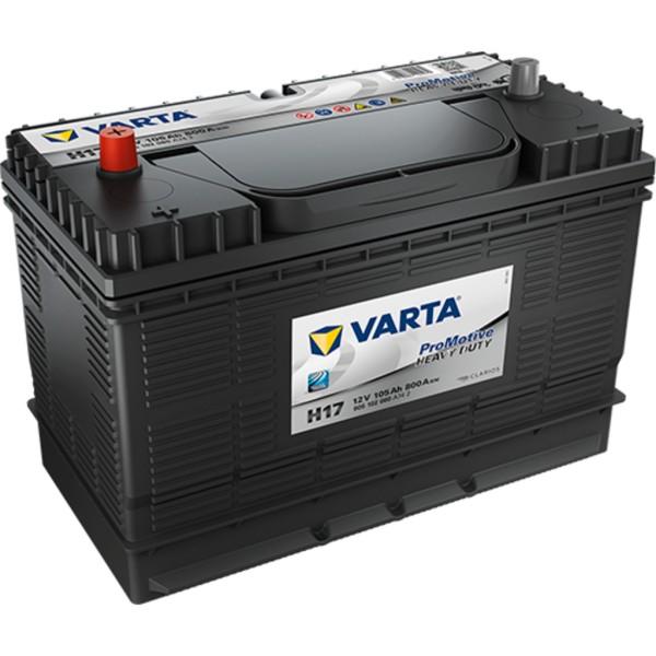 Batería Varta Promotive Black H17. 12V - 105Ah/800A (EN) Caja M31 (330x172x240mm)
