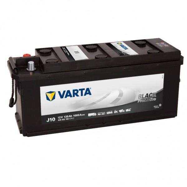 Batería Varta Promotive Black J10. 12V - 135Ah/1000A (EN) (514x175x210mm)