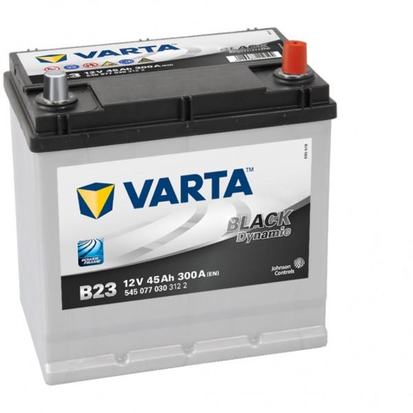 Batería Varta Black Dynamic B23. 12V - 45Ah/300A (EN) Caja E2 (219x135x225mm)