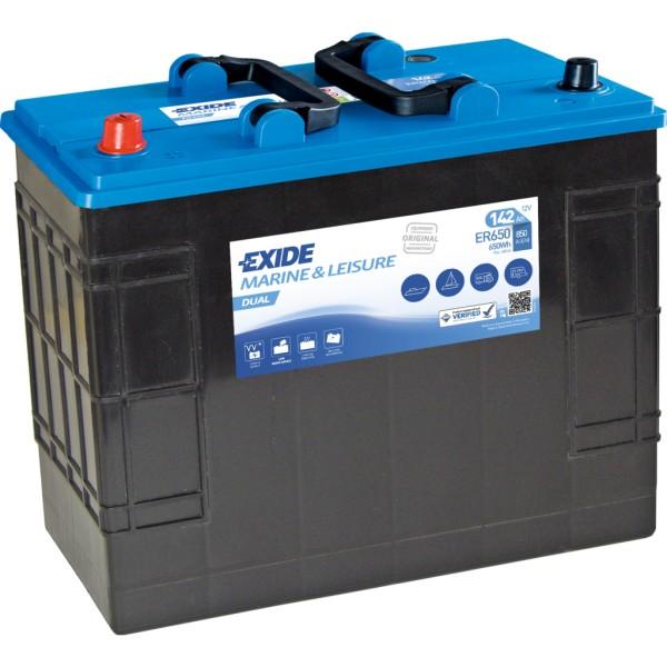 Batería Exide Marina Dual ER650. 12V - 142Ah/850A (EN) Caja WOR (349x175x290mm)