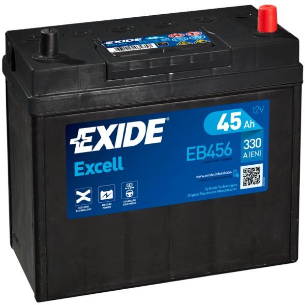 Batería Exide Excell EB456. 12V - 45Ah/330A (EN) Caja B24 (237x127x227mm)