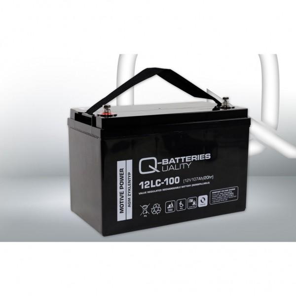 Batería Qbatteries Agm Deep Cycle Battery 12LC-100. Tecnología AGM. 12V - 107Ah Caja M31 (328x172x22