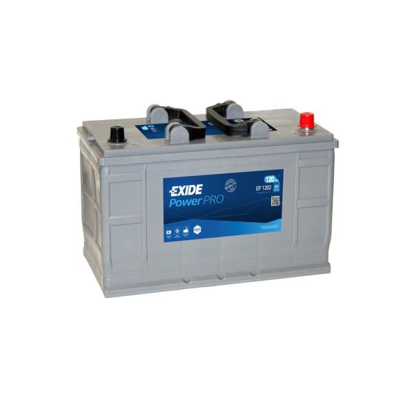 Batería Exide Power Pro EF1202. 12V - 120Ah/870A (EN) Caja LOT7 (349x175x235mm)