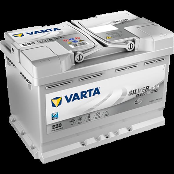 Batería Varta Silver Dynamic Agm E39. Tecnología AGM. 12V - 70Ah/760A (EN) Caja L3 (278x175x190mm)