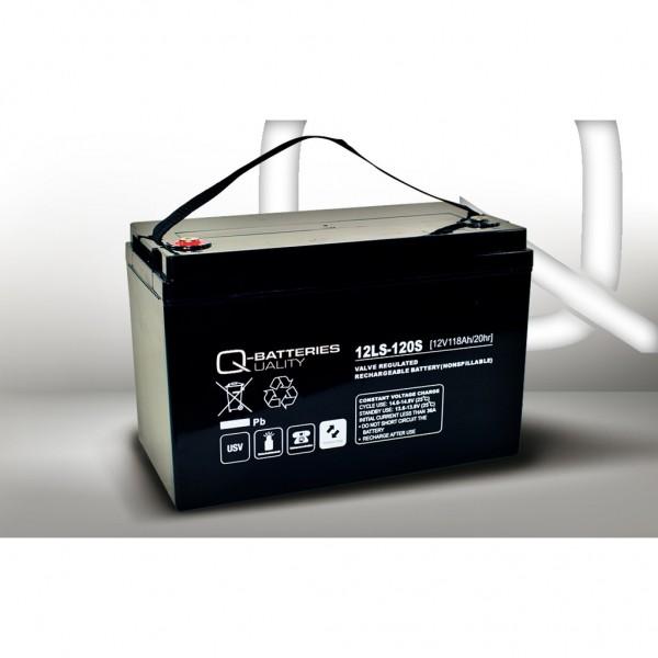 Batería Qbatteries Agm Standard 12LS-120S. Tecnología AGM. 12V - 118Ah (328x177x222mm)