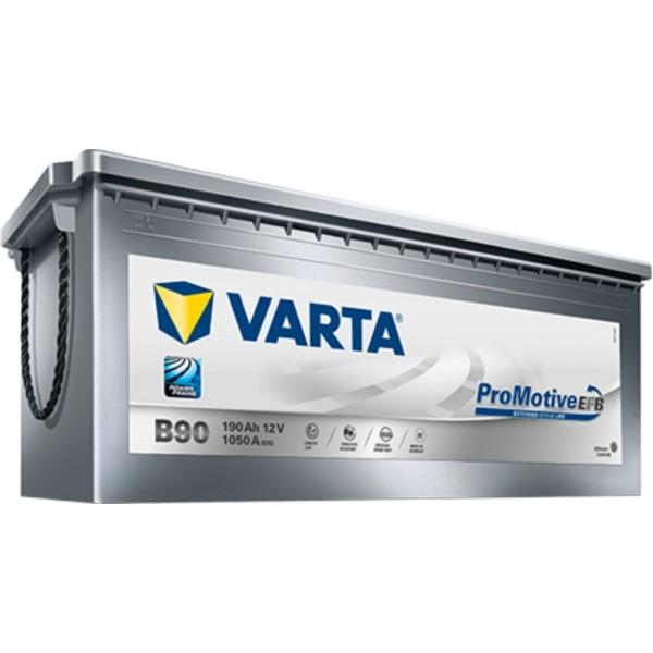 Batería Varta Promotive Efb B90. 12V - 190Ah/1050A (EN) Caja B (513x223x223mm)