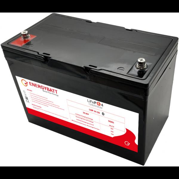 Batería Energybatt Litio (Lifepo4) LDP24-50EB. 25,6V (307x169x215mm)