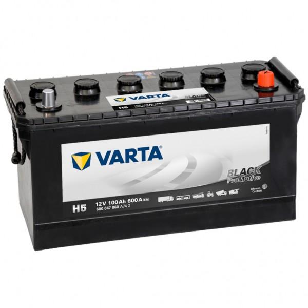 Batería Varta Promotive Black H5. 12V - 100Ah/600A (EN) Caja D01 (413x175x220mm)