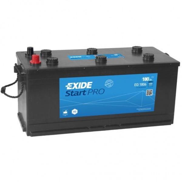 Batería Exide Start Pro EG1806. 12V - 180Ah/1000A (EN) (510x218x225mm)