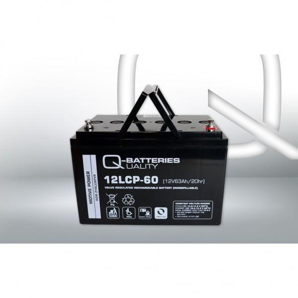 Batería Qbatteries Agm Deep Cycle Battery 12LCP-60. Tecnología AGM. 12V - 63Ah (260x160x178mm)