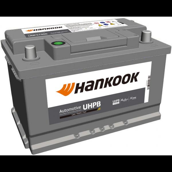 Batería Hankook UMF57400. 12V - 74Ah/750A (EN) Caja LB3 (277x174x175mm)