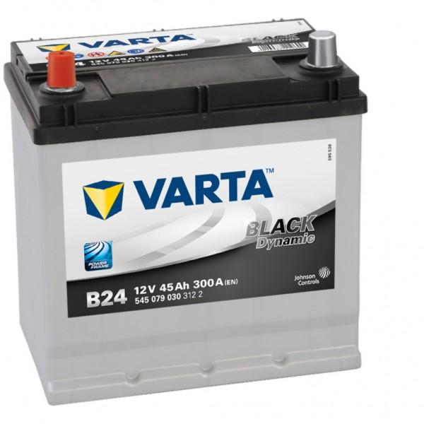 Batería Varta Black Dynamic B24. 12V - 45Ah/300A (EN) Caja E2 (219x135x225mm)