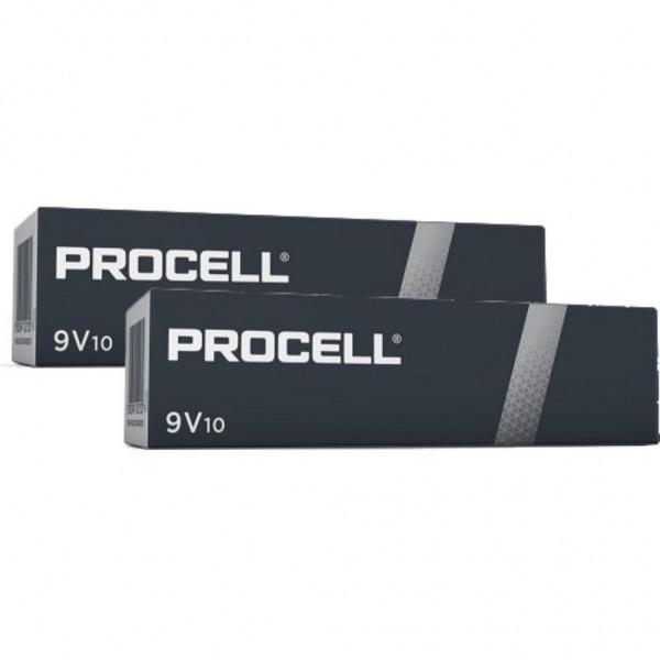 Pila Duracell Procell 9V - 20 Ud 9V