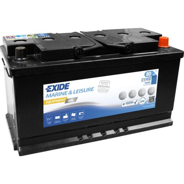 Batería Exide Marina Gel ES900. 12V - 80Ah/540A (EN) Caja L5 (353x175x190mm)