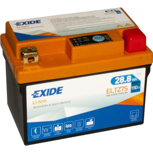 Batería Exide-Litio ELTZ7S. 12V - 2,4Ah/150A (EN) (113x70x85mm)