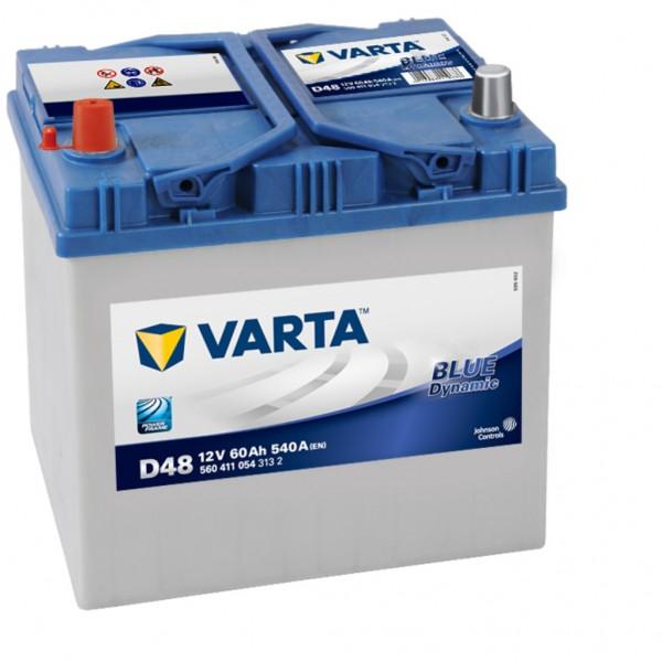 Batería Varta Blue Dynamic D48. 12V - 60Ah/540A (EN) Caja D23 (232x173x225mm)