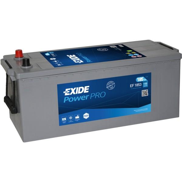 Batería Exide Power Pro EF1853. 12V - 185Ah/1150A (EN) Caja B (513x223x223mm)
