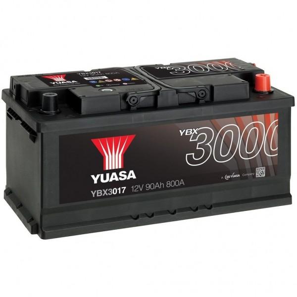 Batería Yuasa Smf YBX3017. 12V - 90Ah/800A (EN) Caja LB5 (353x175x175mm)