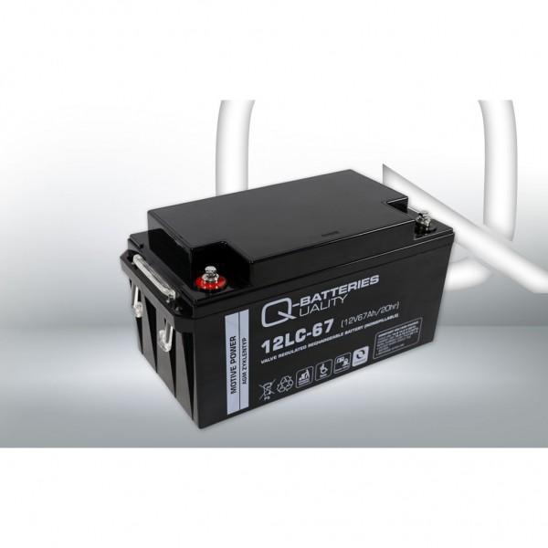 Batería Qbatteries Agm Deep Cycle Battery 12LC-67. Tecnología AGM. 12V - 67Ah (350x167x180mm)