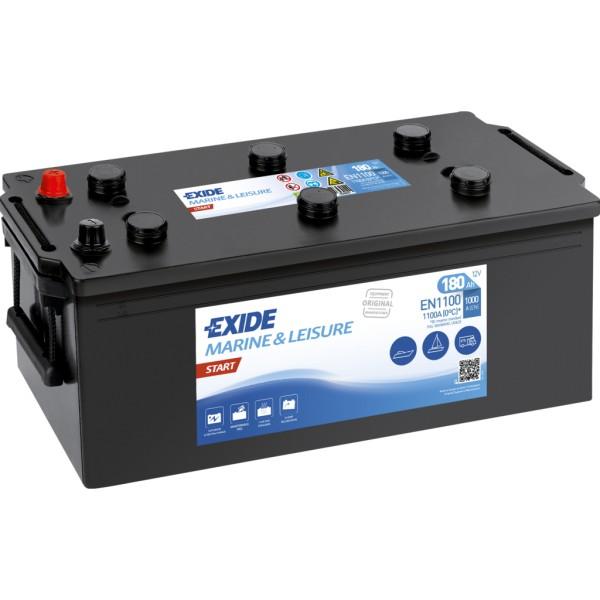 Batería Exide Marina Start EN1100. 12V - 180Ah/1000A (EN) Caja B (513x223x223mm)