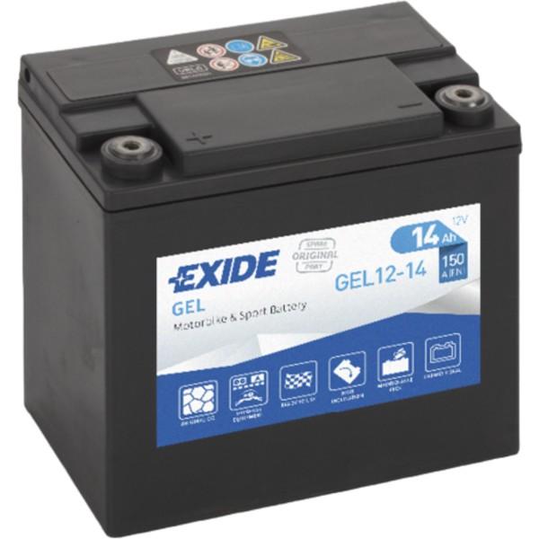 Batería Exide Moto 12V Agm Ready GEL12-14. 12V - 12Ah/200A (EN) (150x90x145mm)