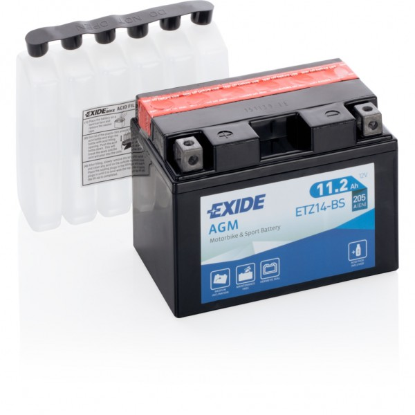 Batería Exide Moto 12V Agm ETZ14-BS. 12V - 11Ah/205A (EN) (150x90x110mm)