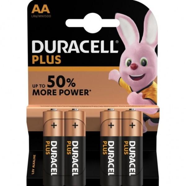 Pila Duracell Plus Aa - 4 Ud 1,5V