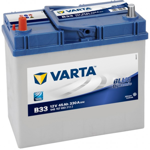 Batería Varta Blue Dynamic B33. 12V - 45Ah/330A (EN) Caja B24 (238x129x227mm)