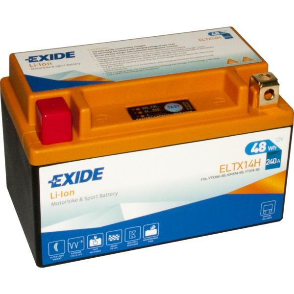 Batería Exide-Litio ELTX14H. 12V - 4Ah/240A (EN) (150x87x93mm)