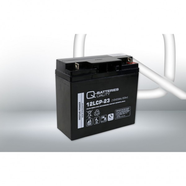 Batería Qbatteries Agm Deep Cycle Battery 12LCP-23. Tecnología AGM. 12V - 23Ah (181x77x167mm)
