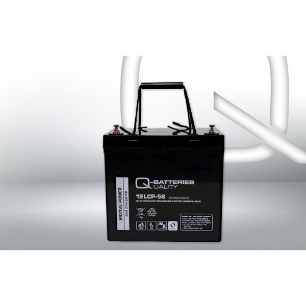 Batería Qbatteries Agm Deep Cycle Battery 12LCP-56. Tecnología AGM. 12V - 56Ah (229x138x210mm)