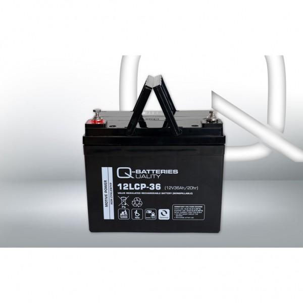 Batería Qbatteries Agm Deep Cycle Battery 12LCP-36. Tecnología AGM. 12V - 36Ah (195x130x163mm)